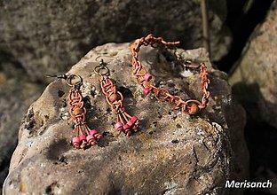 Sady šperkov - Náušnice a náramok - 9427700_