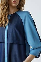 Šaty - Modré šaty Geometric - sleva 25 EUR! - 9426880_