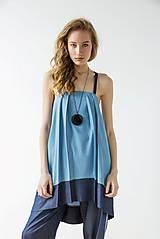 Šaty - Modré šaty Wrinkle - sleva 15 EUR! - 9426994_