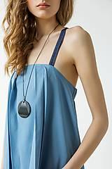 Šaty - Modré šaty Wrinkle - sleva 15 EUR! - 9427021_
