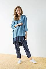 Šaty - Modré šaty Wrinkle - sleva 15 EUR! - 9427022_