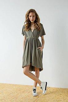 Šaty - Khaki šaty Double plies - 9426818_
