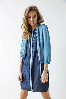 Kabáty - Svetlo modrý kabátek - sleva 15 EUR! - 9426893_