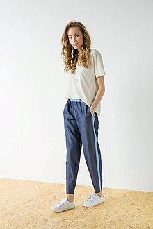 Nohavice - Modré kalhoty Strip - sleva 25 EUR!!! - 9426948_