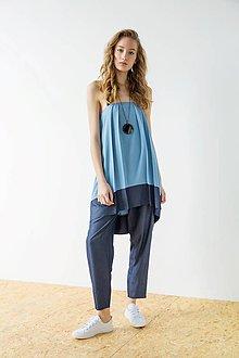 Šaty - Modré šaty Wrinkle - sleva 15 EUR! - 9427004_