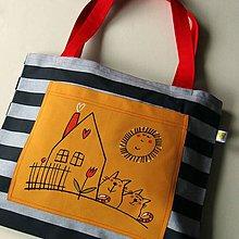 Veľké tašky - PRUHOVANÝ SVĚT - velká taška - 9428839_