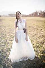 Šaty - Krajkové šaty s korálkami Slavianka - 9425720_
