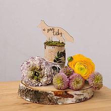 Dekorácie - Označenie stolov na svadbu (U pani líšky) - 9427967_