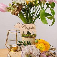 Dekorácie - Označenie stolov na svadbu (U pána medveďa) - 9427983_