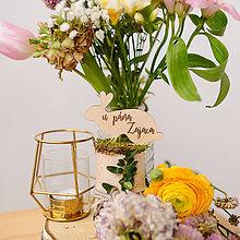 Dekorácie - Označenie stolov na svadbu (U pána zajaca) - 9427986_