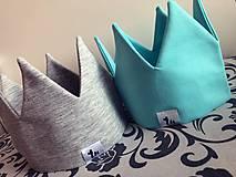 Detské čiapky - Korunky a šatky na hlavičky  (Tyrkysová) - 9425075_