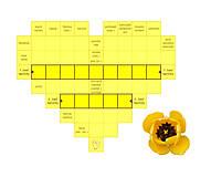 """Grafika - Krížovkové srdce """"Žltý tulipán"""" - 9428792_"""