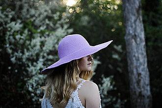 Čiapky - Letný klobúk bledofialovej farby - 9427072_