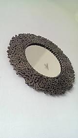 Zrkadlá - Okrúhle striebristé zrkadielko z bicyklovej reťaze - 9427924_