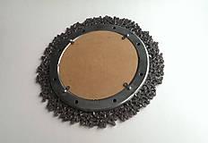 Zrkadlá - Okrúhle striebristé zrkadielko z bicyklovej reťaze - 9427928_