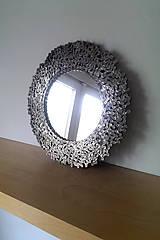 Zrkadlá - Okrúhle striebristé zrkadielko z bicyklovej reťaze - 9427929_