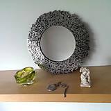 Zrkadlá - Okrúhle striebristé zrkadielko z bicyklovej reťaze - 9427931_