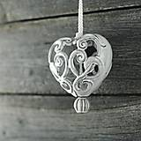Dekorácie - Vyřezávané srdce rustik - 9425590_