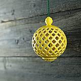 Dekorácie - Aroma ozdoba žlutá - 9425793_