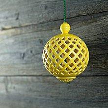 Dekorácie - Aroma difuzér malý žlutý - 9425793_