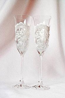 Nádoby - Svadobné poháre Zvonček - 9426412_