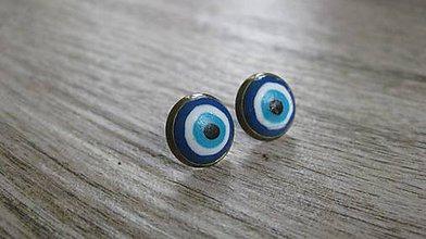 Náušnice - Napichovačky fimo rôzny vzor (Alahovo oko - napichovačky 13mm, č. 1996) - 9426084_