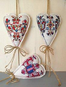 Dekorácie - Ornament v srdci, vyšívka Záriečie - 9426693_
