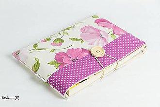 Papiernictvo - Obal na knihu - fialové maky - 9428345_