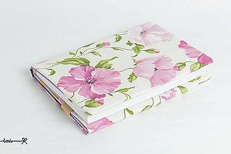 Papiernictvo - Obal na knihu otvárací - fialové maky - 9428402_