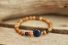 - Náramok z minerálov jaspis, lapis lazuli - 9426940_