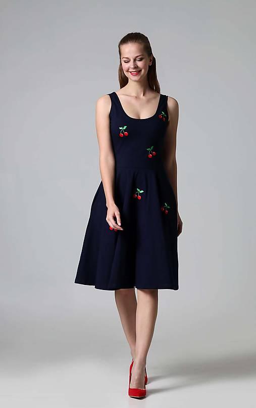 238223082ba5 Čerešničky modré (36)   ZuzanaZachar - SAShE.sk - Handmade Šaty