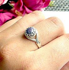Prstene - Vintage Kunzite Silver Ring Ag925 / Strieborný prsteň s kunzitom /0291 - 9432211_