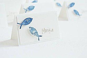 Papiernictvo - Menovky na 1.sväté prijímanie - rybky modré - 9429084_