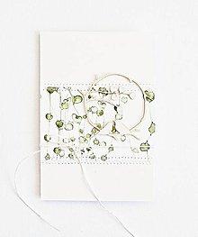 Papiernictvo - Svadobný pozdrav - vtáčiky na rastlinkách II - 9429106_