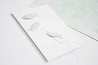Papiernictvo - Pozdrav rybky - mint - 9429116_