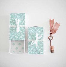 Papiernictvo - Krabičky na USB (Zelená) - 9430066_