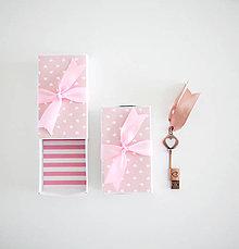Papiernictvo - Krabičky na USB (Ružová) - 9430070_