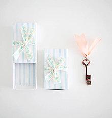 Papiernictvo - Krabičky na USB (Tyrkysová) - 9430075_