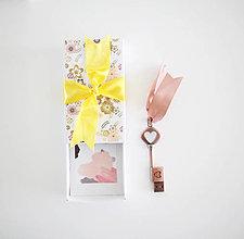 Papiernictvo - Krabičky na USB (Žltá) - 9430087_