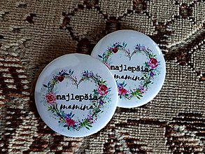 Odznaky/Brošne - zrkadielko (naj mamina) - 9431917_