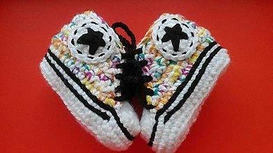 Topánočky - Háčkované tenisky - 9429996_