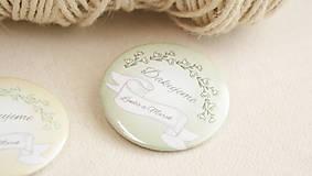 Darčeky pre svadobčanov - Svadobný odznak, svadobná brošňa - 9429689_