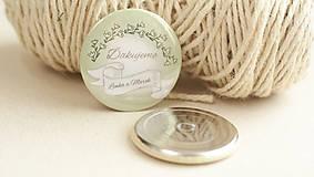 Darčeky pre svadobčanov - Svadobný odznak, svadobná brošňa - 9429698_
