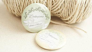 Darčeky pre svadobčanov - Svadobný odznak, svadobná brošňa - 9429691_