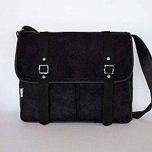 Kabelky - Denver (unisex taška čierno-čierna) - 9429778_