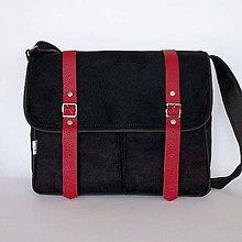 Kabelky - Denver (unisex taška čierno-červená) - 9429823_