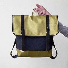 Batohy - Aktovkový batoh (Zlato-čierny) - 9430161_