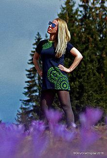 Šaty - Dámske šaty mini, šité, maľované, etno AMRAS - 9429439_