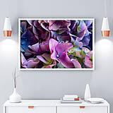 Obrazy - KVETY HORTENZIE fotoplátno 60x40 cm (Fialová) - 9429982_