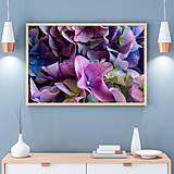 Obrazy - KVETY HORTENZIE fotoplátno 60x40 cm (Fialová) - 9429985_
